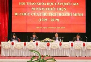 Nhận thức sâu sắc hơn về giá trị Di chúc của Chủ tịch Hồ Chí Minh