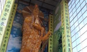 Tượng Phật bằng hoa bất tử xác lập kỷ lục thế giới