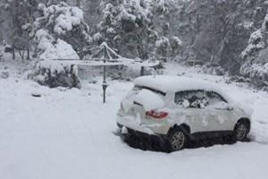 Tuyết rơi mùa hè dày tới 40 cm