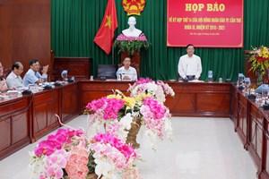 Họp báo trước kỳ họp thứ 14củaHĐND thành phố Cần Thơ