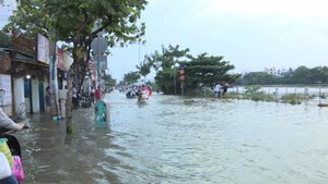 Đỉnh triều cường tại Trạm Phú An trên sông Sài Gòn vượt báo động 3