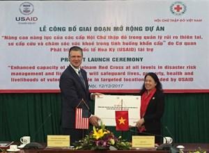USAID tài trợ mở rộng dự án nâng cao năng lực cho Hội Chữ thập đỏ Việt Nam
