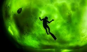 Vẻ đẹp kì ảo của cực quang dưới làn nước biển