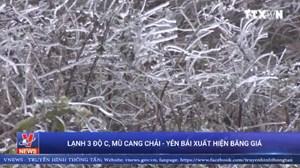 [Video] Không khí lạnh tăng cường, Mù Cang Chải xuất hiện băng giá