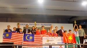 Việt Nam giành giải Nhất sơ cấp Robothon quốc tế 2017