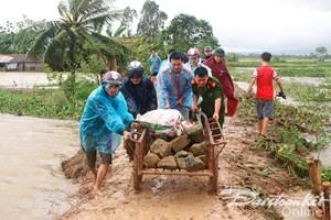 Vỡ đê sông Hoàng, ngập hơn 100 nhà dân