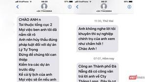 Đà Nẵng: Một giám đốc bị nhắn tin đe dọa