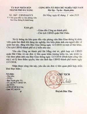 Vụ phóng viên bị khống chế: Chủ tịch Đà Nẵng yêu cầu làm rõ