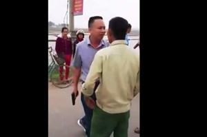 Xác định tài xế ôtô rút súng đe dọa sau tai nạn ở Hà Tĩnh