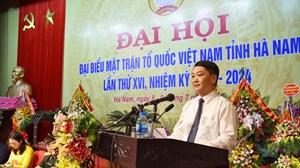 BẢN TIN MẶT TRẬN: Phó Chủ tịch - Tổng Thư ký Hầu A Lềnh dự Đại hội MTTQ tỉnh Hà Nam