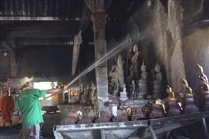 Kiên Giang: Cháy lớn gây nhiều thiệt hại tại chùa Tà Bết