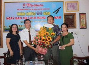 MTTQ tỉnh Quảng Ngãi thăm Văn phòng báo Đại Đoàn Kết tại Quảng Nam, Quảng Ngãi