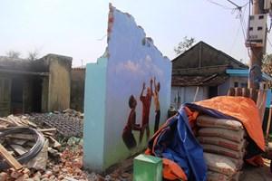 4 bức họa ở thôn Trung Thanh bị đập bỏ