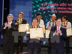 45 công trình được trao giải thưởng Sáng tạo Khoa học công nghệ Việt Nam