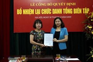 Bà Lê Thị Bích Ngọc được bổ nhiệm lại Tổng Biên tập báo Lao động Thủ đô