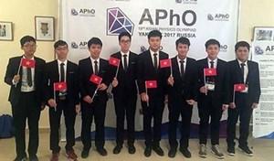 7/8 thí sinh Việt Nam  đoạt giải tại Olympic Vật lý  châu Á lần thứ 18