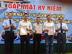 Giải Báo chí Thừa Thiên - Huế 2019: 7/17 tác phẩm của CTV, Phóng viên thường trú được trao giải