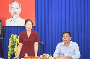 Phó Chủ tịch Trương Thị Ngọc Ánh kiểm tra công tác chuẩn bị Đại hội Mặt trận tỉnh Sóc Trăng