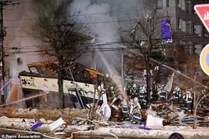 [ẢNH] Cảnh điêu tàn, đổ nát tại hiện trường vụ nổ nhà hàng Nhật Bản