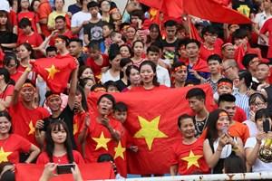 [ẢNH] Sân vận động Mỹ Đình ngập sắc đỏ chào đón vận động viên trở về từ Asiad 2018
