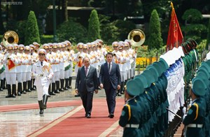 [ẢNH] Thủ tướng Nguyễn Xuân Phúc đón, hội đàm với Thủ tướng Italy