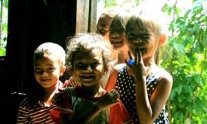 [Ảnh] Trẻ em dân tộc K'Ho đón Trung thu sớm