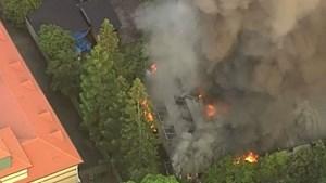 Australia: Cháy lớn thiêu rụi ngôi nhà trọ được xếp hạng di sản