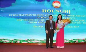 Bà Nguyễn Lan Hương giữ chức Chủ tịch Uỷ ban MTTQ Việt Nam TP Hà Nội