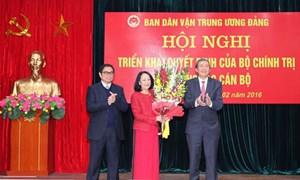 Bà Trương Thị Mai chính thức giữ chức Trưởng ban Dân vận TW