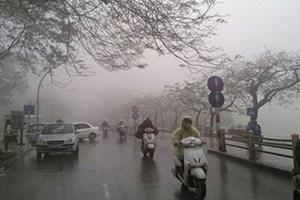 Bắc Bộ mưa phùn và sương mù
