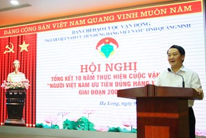 BẢN TIN MẶT TRẬN: Phó Chủ tịch - Tổng Thư ký Hầu A Lềnh dự Hội nghị Cuộc vận động 'Người Việt Nam ưu tiên dùng hàng Việt Nam'