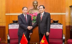 BẢN TIN MẶT TRẬN: Tăng cường quan hệ hợp tác giữa MTTQ Việt Nam và Chính hiệp Trung Quốc