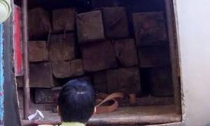 Bắt xe bồn vận chuyển 46 phách gỗ trái phép