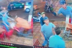 [VIDEO] Thanh niên lao xe máy vào giữa quán nhậu
