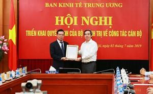 Ông Triệu Tài Vinh được bổ nhiệm Phó Ban Kinh tế Trung ương