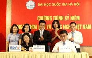 BIDV tài trợ ĐHQG Hà Nội  triển khai các đề tài nghiên cứu khoa học cơ bản