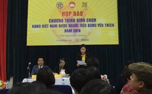 Bình chọn 'Hàng Việt Nam được người tiêu dùng yêu thích' năm 2016