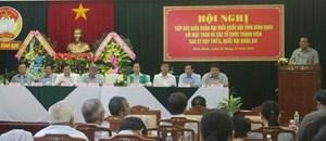Bình Định: Đoàn ĐBQH lắng nghe ý kiến từ đại biểu Mặt trận và các tổ chức thành viên