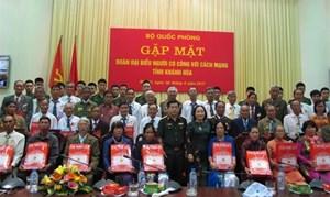 Bộ Quốc phòng gặp mặt Đoàn đại biểu người có công với cách mạng