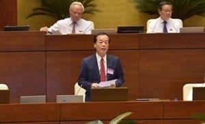 Bộ trưởng Bộ Xây dựng Phạm Hồng Hà trả lời chất vấn trước Quốc Hội