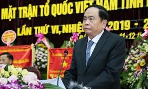 BẢN TIN MẶT TRẬN: Chủ tịch Trần Thanh Mẫn dự Đại hội MTTQ Việt Nam tỉnh Bắc Kạn lần thứ VI, nhiệm kỳ 2019-2024