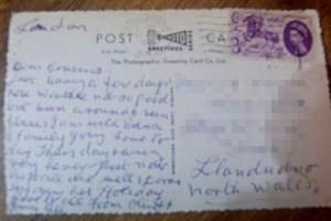 Bưu thiếp gửi cả nửa thế kỷ mới đến tay người nhận