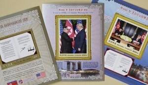 Bộ tem về thượng đỉnh Mỹ-Triều lần đầu tiên được bán ở Bình Nhưỡng