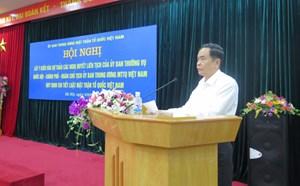 Cần thiết phải ban hành Nghị quyết liên tịch quy định chi tiết Luật MTTQ Việt Nam