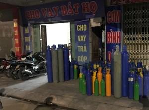 Cảnh sát đột kích tổng kho bóng cười ở Quảng Ninh