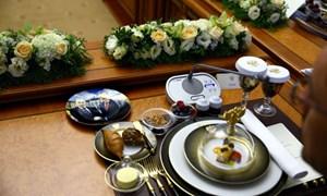 Chiếc đĩa đặc biệt trong bữa trưa của lãnh đạo Nga-Thổ