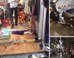 Chồng dùng dao truy sát vợ trên phố Hàng Bông do ghen tuông