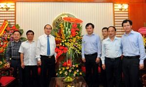 Chủ tịch  Nguyễn Thiện Nhân chúc mừng Cổng thông tin điện tử Chính phủ