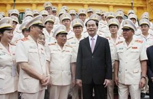 Chủ tịch nước gặp mặt đại biểu thương binh, thân nhân liệt sĩ CSND