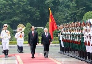 Chủ tịch nước hội đàm với Tổng thống Ireland